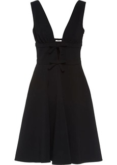 Miu Miu Faille cady dress with bows