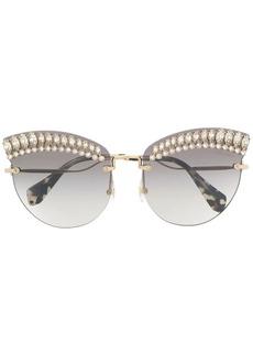 Miu Miu faux-crystal embellished sunglasses