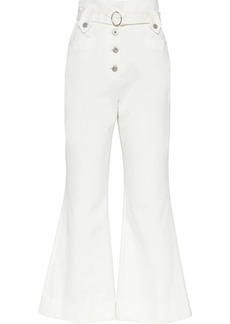 Miu Miu flared belted jeans