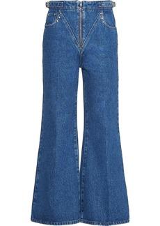 Miu Miu flared cropped jeans