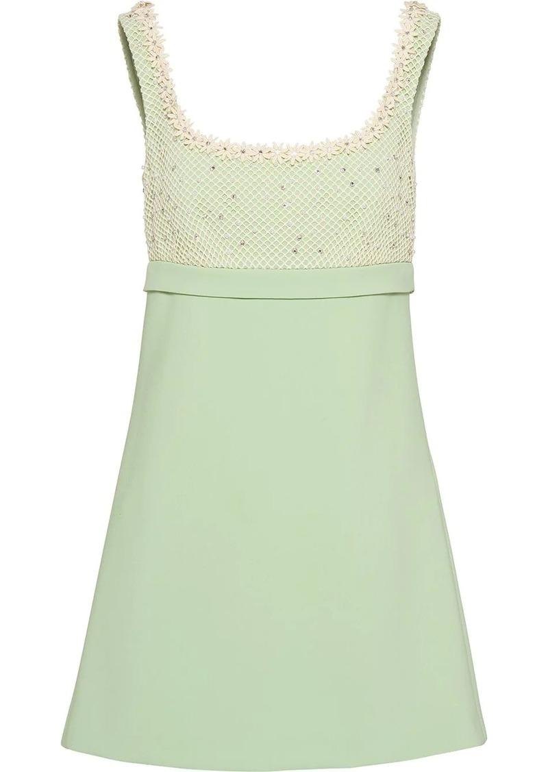 Miu Miu floral appliqués A-line mini dress