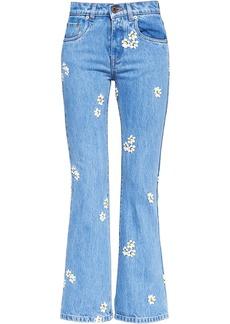 Miu Miu floral embroidered jeans