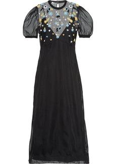 Miu Miu floral embroidered sheer dress