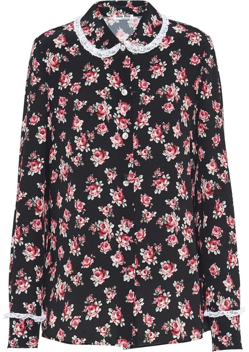 Miu Miu floral-print blouse