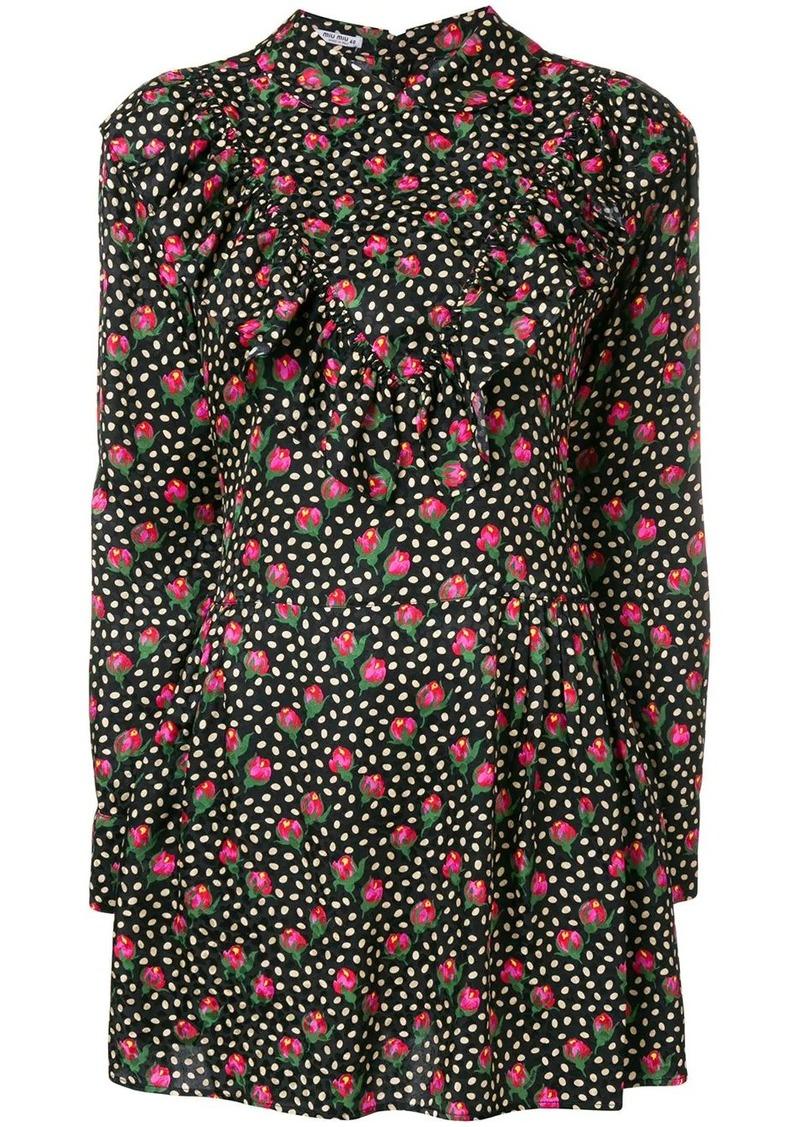 Miu Miu floral-print dress