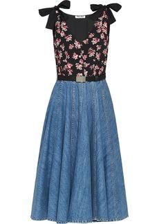 Miu Miu floral-print pleated dress