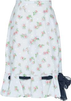 Miu Miu floral print ribbon skirt