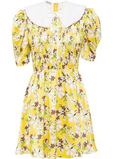 Miu Miu floral printed sablé dress