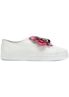 Miu Miu flower applique sneakers
