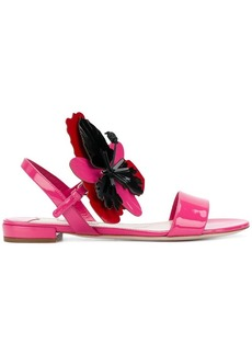 Miu Miu flower embellished sandals