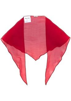 Miu Miu sheer foulard