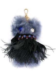 Miu Miu fur monster key ring