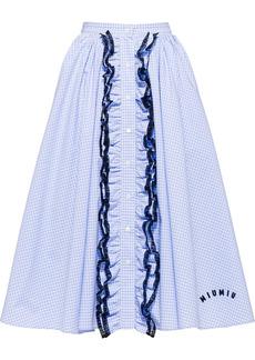 Miu Miu gingham-print midi skirt