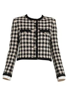 Miu Miu Gingham Tweed Jacket