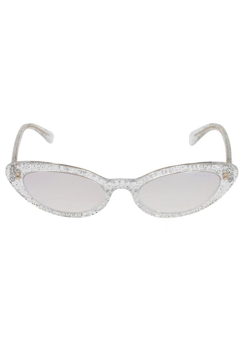 Miu Miu Glitter Acetate Sunglasses