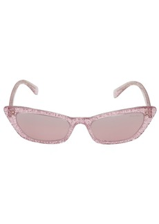 Miu Miu Glitter Cat Eye Acetate Sunglasses