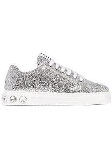 Miu Miu glitter-effect low-top sneakers