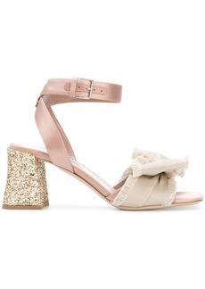 Miu Miu glittered block heel sandals