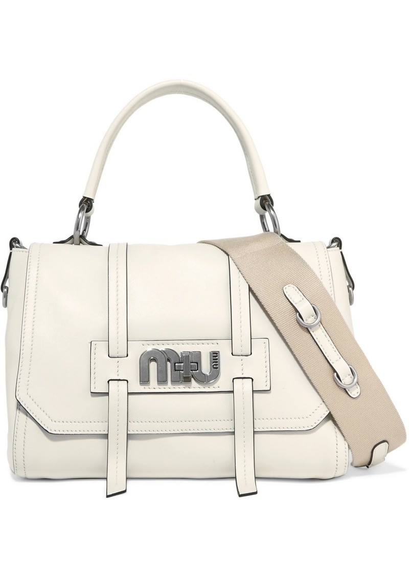 Miu Miu Grace Leather Shoulder Bag  b72ec12cd64a1