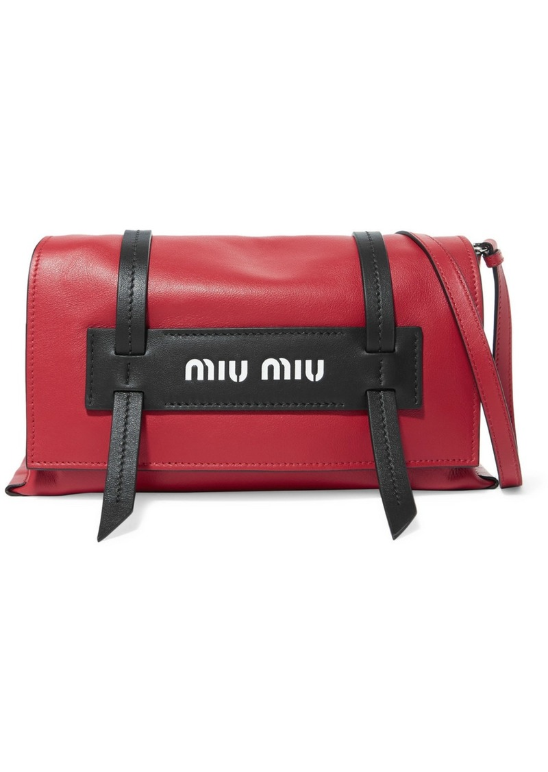 9a441c38f0df On Sale today! Miu Miu Grace Leather Shoulder Bag