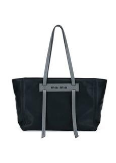 Miu Miu Grace Lux Leather Tote Bag