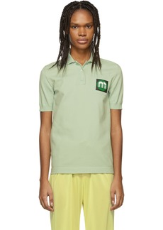 Miu Miu Green Logo Patch Polo