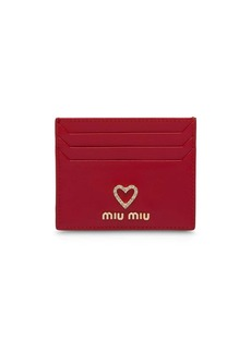 Miu Miu heart card holder