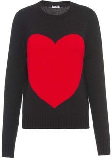 Miu Miu heart crew-neck jumper