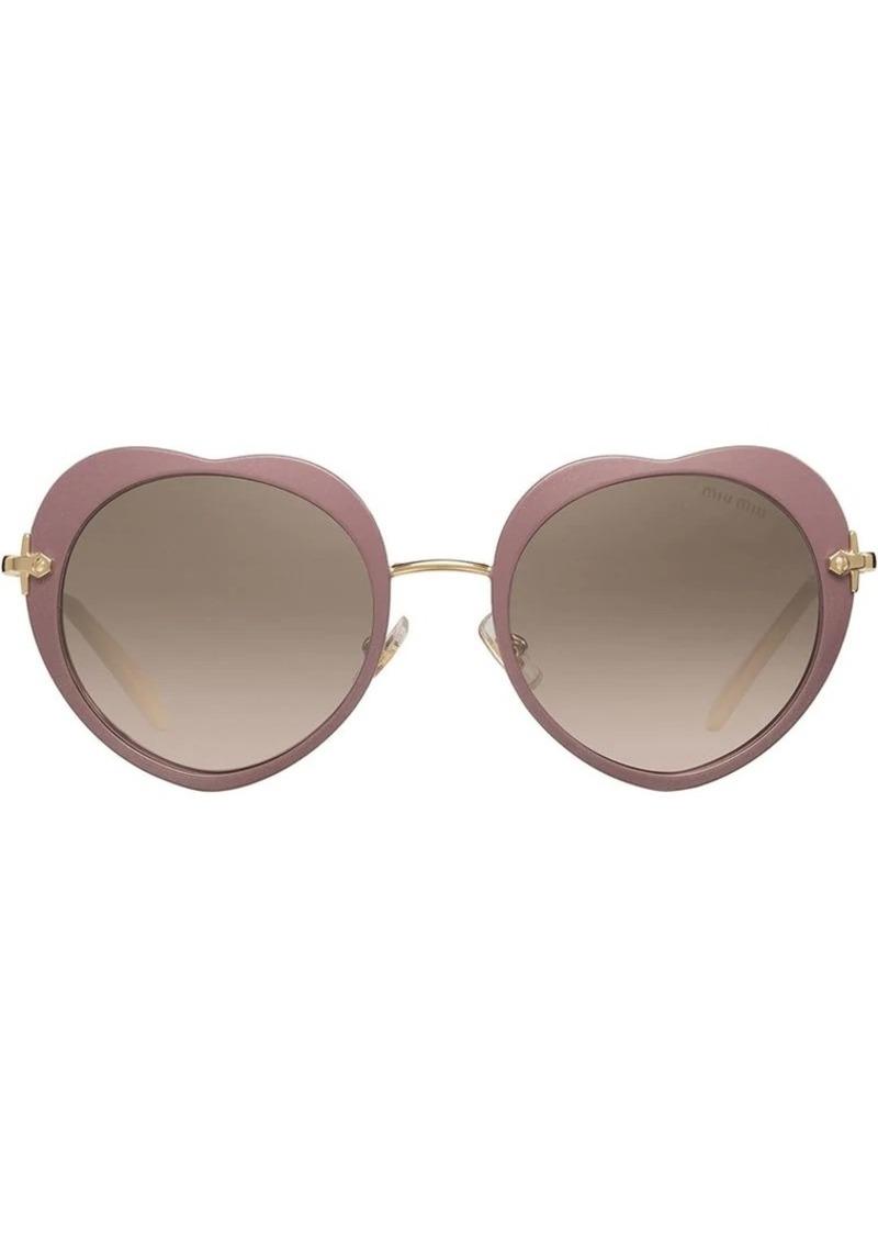 565eee4454e Miu Miu heart-shaped sunglasses