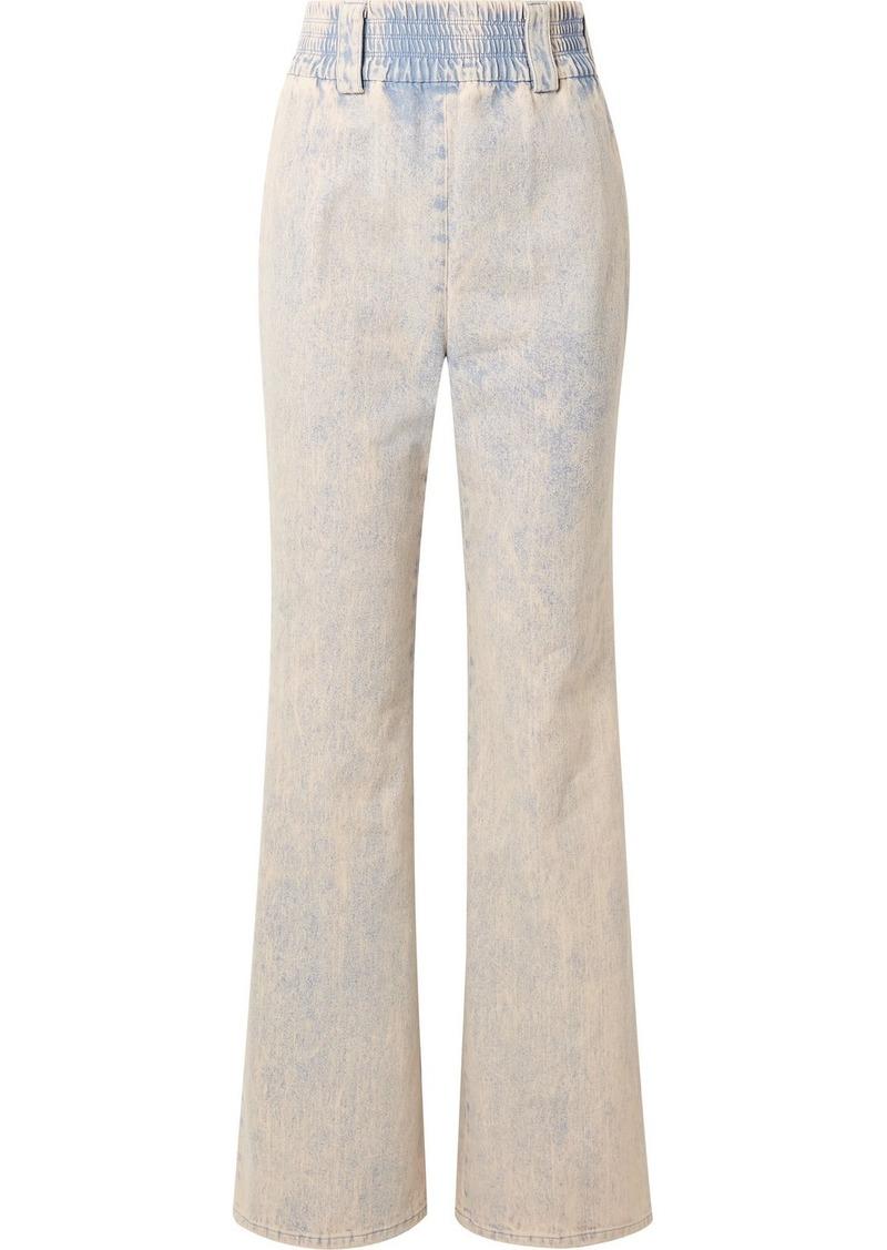 Miu Miu High-rise Wide-leg Jeans