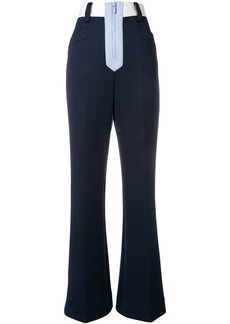 Miu Miu high-waisted colour block trousers