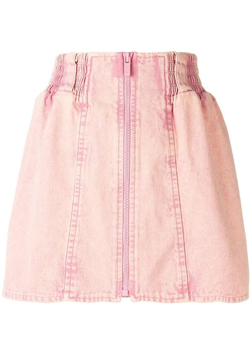 Miu Miu high-waisted denim skirt