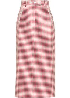 Miu Miu high-waisted gingham skirt