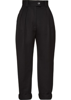 Miu Miu high-waisted turn-up trousers