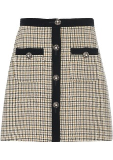 Miu Miu houndstooth check skirt