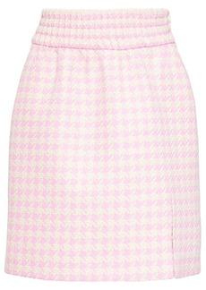 Miu Miu houndstooth jacquard skirt