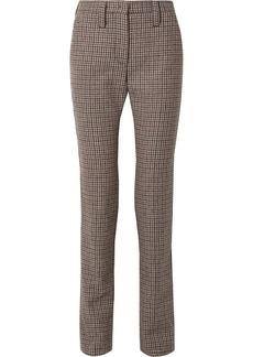Miu Miu Houndstooth Wool-tweed Straight-leg Pants