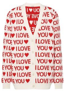 Miu Miu I Love You intarsia cardigan