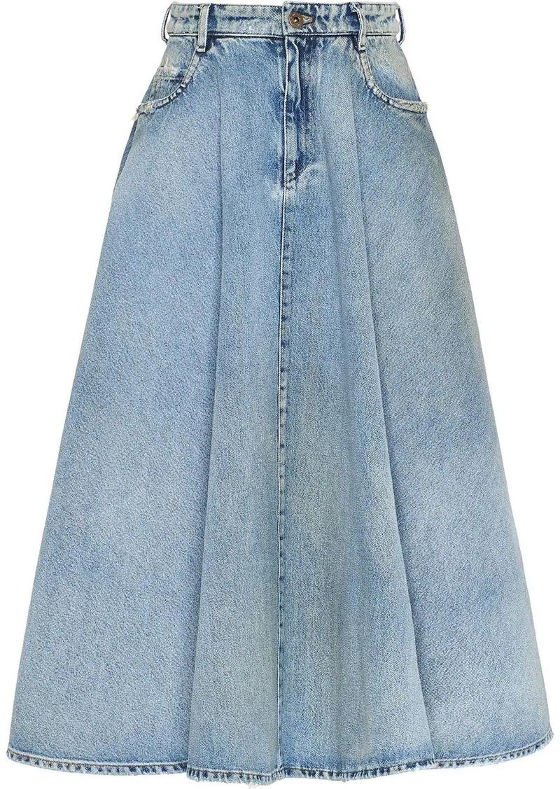 Miu Miu Iconic A-line skirt