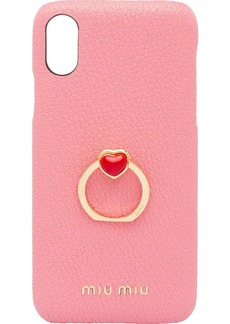 Miu Miu pull-ring detail iPhone X/XS case