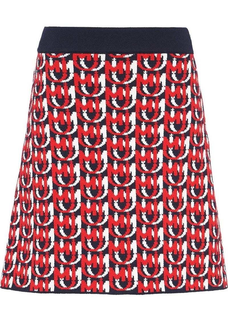 Miu Miu jacquard monogram skirt