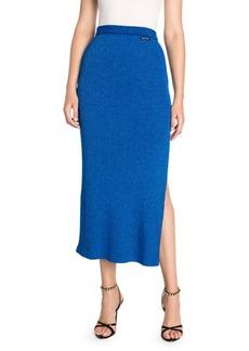 Miu Miu Jersey Knit Side-Slit Midi Skirt
