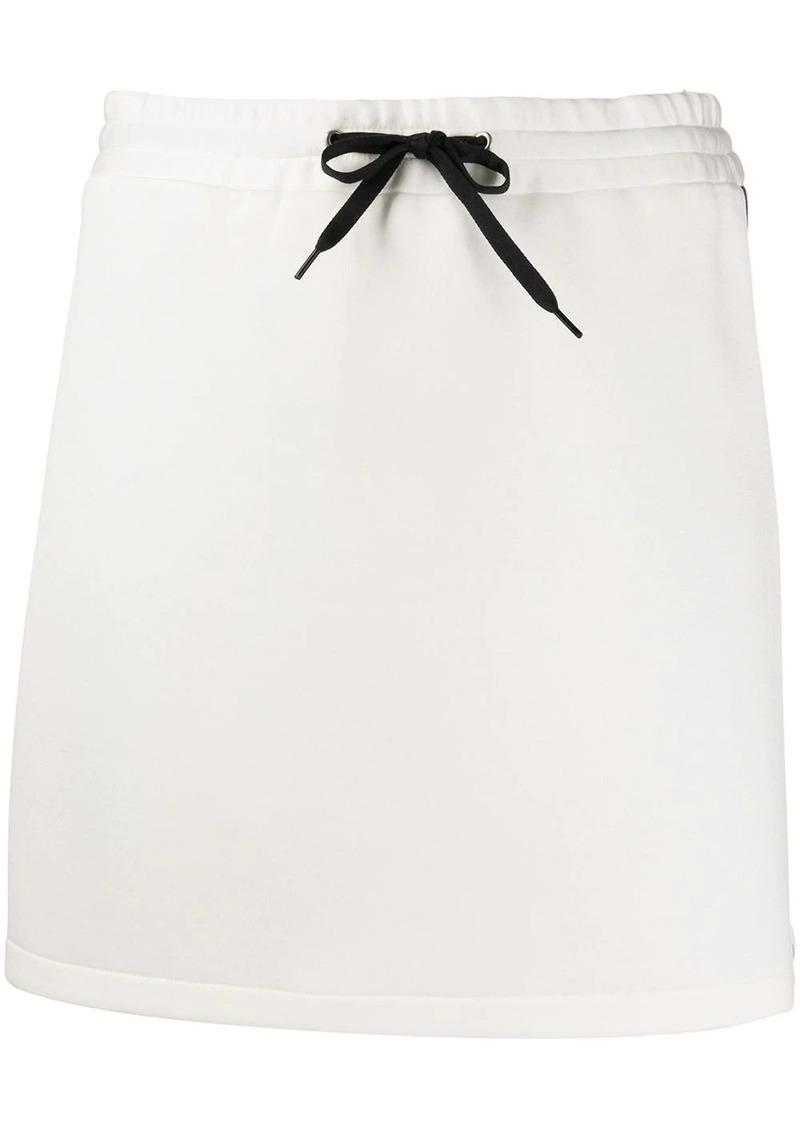 Miu Miu jersey logo stripe skirt