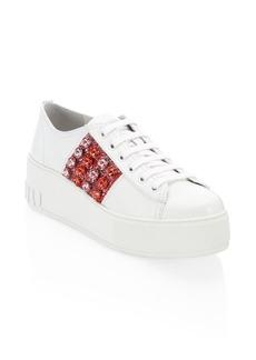 Miu Miu Jewel Stripe Platform Sneakers