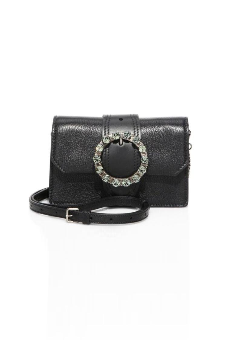 Miu Miu Jeweled Leather Crossbody Belt Bag  9bd9b35fbe36a