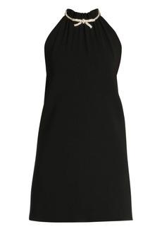 Miu Miu Jewelled Bow Halter Dress