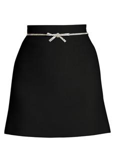 Miu Miu Jewelled Bow Mini Skirt