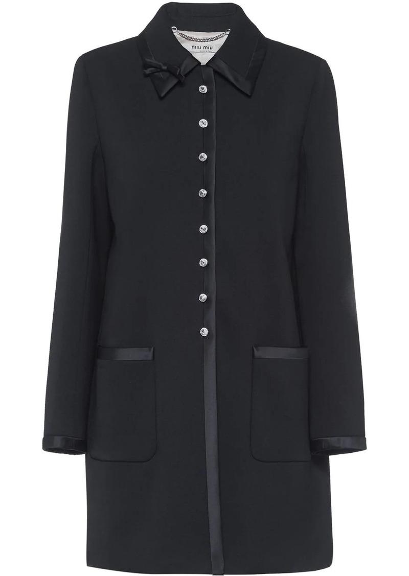 Miu Miu jewelled button coat