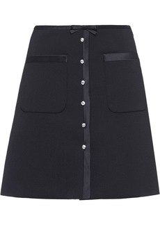 Miu Miu jewelled button mini skirt