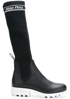 Miu Miu knee length sock boots